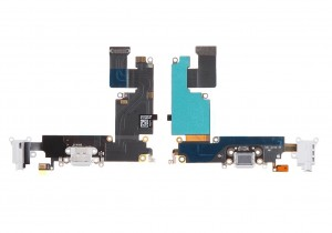 IPHONE 6 PLUS CHARGING PORT WITH EARPHONE FLEX CABLE – SILVER